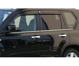 Nissan X-trail T31 2007-2014 гг. Наружняя окантовка стекол (нерж) 6 шт, 2010-2014, Carmos - Турецкая сталь
