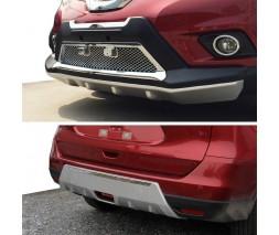 Nissan X-trail T32 /Rogue 2014+ гг. Передняя и задняя накладки V3 (2014-2016)