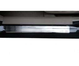 Nissan X-trail T32 /Rogue 2014+ гг. Накладки на пороги OmsaLine (4 шт, нерж)