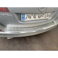 Накладка на задний бампер Carmos (SW, нерж) для Opel Astra J 2010+