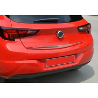 Opel Astra K 2016+ Нижняя кромка крышки багажника (нерж) Хром