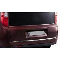 Opel Combo 2012-2018 гг. Накладка кромки крышки багажника (нерж.) OmsaLine - Итальянская нержавейка