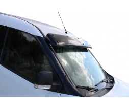 Opel Combo 2012-2018 гг. Козырек на лобовое стекло (черный глянец, 5мм)