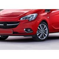 Накладки на внутренние пороги (без надписи, сталь) OmsaLine - Итальянская нержавейка для Opel Corsa E 2015+
