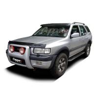 Козырек на лобовое стекло (черный глянец, 5мм) для Opel Frontera 1991-1998