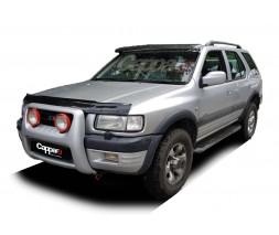 Opel Frontera 1991-1998 Козырек на лобовое стекло (черный глянец, 5мм)