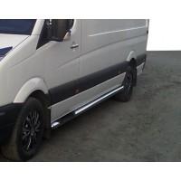 Боковые трубы (2 шт., нерж.) Средняя база для Opel Movano 2004-2010