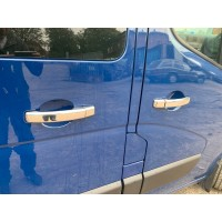 Opel Movano 2010+ гг. Накладки на ручки (4 шт) 1 отверстие, Carmos - ABS-пластик