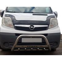 Кенгурятник WT003-4 (нерж.) Без надписи для Opel Vivaro 2001-2015
