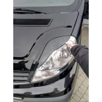 Реснички Porsche-style Черный мат для Opel Vivaro 2001-2015