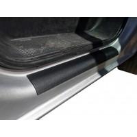 Накладки на дверные пороги ABS (2 шт, DDU) Мат для Opel Vivaro 2001-2015