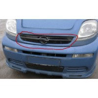 Зимняя накладка на решетку (верхняя) Матовая, 2001-2007 для Opel Vivaro 2001-2015