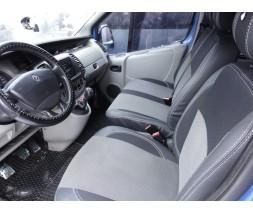 Opel Vivaro 2001-2015 гг. Авточехлы (кожзам+ткань, Premium) Передние 1-20211