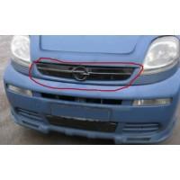 Зимняя накладка на решетку (верхняя) Глянцевая, 2001-2007 для Opel Vivaro 2001-2015