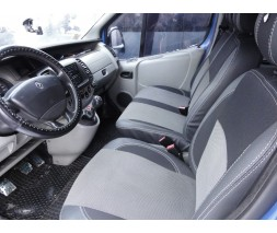 Opel Vivaro 2001-2015 гг. Авточехлы (кожзам+ткань, Premium) Передние 2-20211 и салон