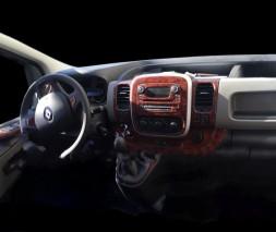 Opel Vivaro 2015-2019 гг. Накладка на торпеду Алюминий