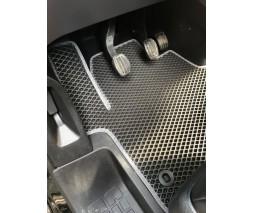 Opel Vivaro 2019+ гг. Полиуретановые коврики (2 шт, EVA, черные) 1-20211