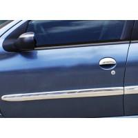Молдинг дверной (4 шт, нерж) для Peugeot 206