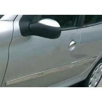 Накладки на зеркала (2 шт) Carmos - Турецкая сталь для Peugeot 206