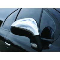 Peugeot 207 Накладки на зеркала (2 шт) Carmos - Турецкая сталь