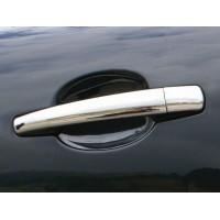 Peugeot 207 Накладки на ручки (нерж) 4 штуки. Carmos - Турецкая сталь