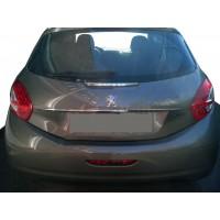 Хром планка над номером (нерж) для Peugeot 208