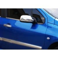 Накладки на зеркала (2 шт, пласт.) для Peugeot 307