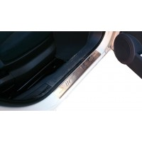 Накладки на пороги OmsaLine (2 шт, нерж.) для Peugeot Bipper 2008+