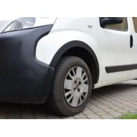 Peugeot Bipper 2008+ гг. Накладки на арки (4 шт, черные) 1 дверь, ABS пластик