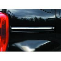 Молдинг под сдвижную дверь (2 шт, нерж.) Carmos - Турецкая сталь для Peugeot Bipper 2008+