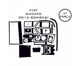 Peugeot Boxer 2006+ и 2014+ гг. Накладки на панель (2014+) Дерево