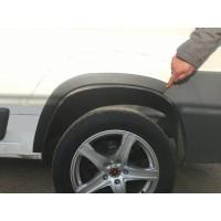 Peugeot Boxer 2006+ и 2014+ гг. Накладки на арки (4 шт, черные) ABS-Пластик