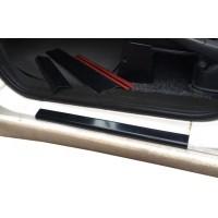 Накладки на пороги (2 шт, ABS) Матовые для Peugeot Expert 1996-2007