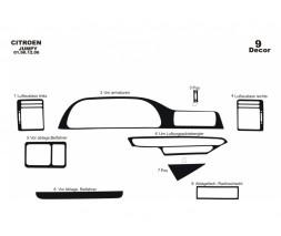 Peugeot Expert 1996-2007 гг. Накладки на панель (Meric) Карбон