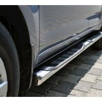 Боковые трубы BB002 (2 шт, нерж) 70мм, Короткая база для Peugeot Expert 2007-2017