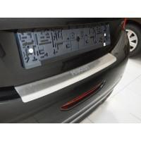 Peugeot Expert 2007-2017 гг. Накладка на задний бампер с изгибом Натанико (нерж) 2012-2017