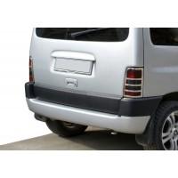 Накладка на стопы (2 шт, нерж.) OmsaLine - Итальянская нержавейка для Peugeot Partner 1996-2008