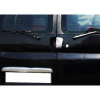 Накладка над номером (2 дв, нерж) для Peugeot Partner 1996-2008