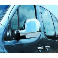 Накладки на зеркала (2 шт, пласт) Черный хром для Peugeot Partner/Rifter 2019+