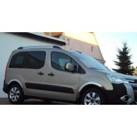 Peugeot Partner Tepee 2008-2018 гг. Накладки на арки (4 шт, нерж) 1 боковая дверь, нержавейка