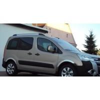 Peugeot Partner Tepee 2008-2018 гг. Накладки на арки (4 шт, нерж) 2 боковые двери, нержавейка