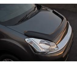 Peugeot Partner Tepee 2008-2018 гг. Дефлектор капота длинная (EuroCap)