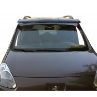 Козырек на лобовое стекло (черный глянец, 5мм) для Peugeot Partner Tepee 2008-2018