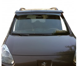 Peugeot Partner Tepee 2008-2018 гг. Козырек на лобовое стекло (черный глянец, 5мм)