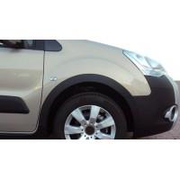 Peugeot Partner Tepee 2008-2018 гг. Накладки на арки (4 шт, черные) 2 боковые двери, пластик
