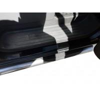 Накладки на пороги DDU (4 шт, пласт) для Peugeot Partner Tepee 2008-2018