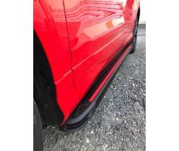 Porsche Cayenne 2003-2010 гг. Боковые пороги Maya Red (2 шт., алюминий)