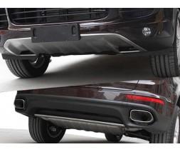 Porsche Cayenne 2010-2017 гг. Передняя и задняя накладки (2015-2017)