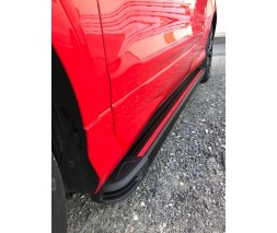 Porsche Cayenne 2010-2017 гг. Боковые пороги Maya Red (2 шт., алюминий)