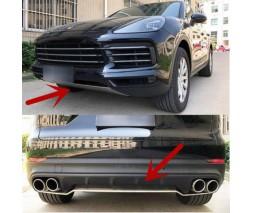 Porsche Cayenne 2018↗ гг. Передняя и задняя накладки